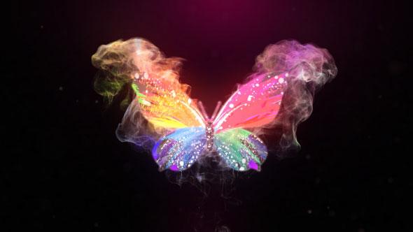 Glowing Butterfly Logo Reveal