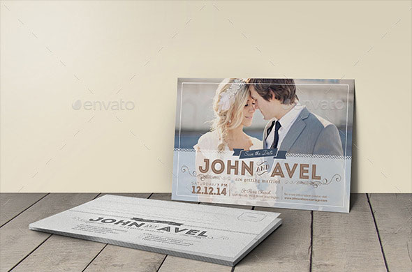 Post Card Wedding Invitation