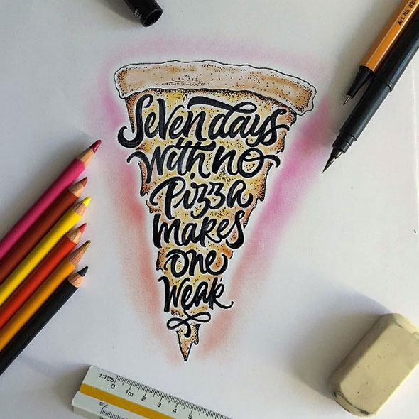 25 Amazing Lettering & Calligraphy works