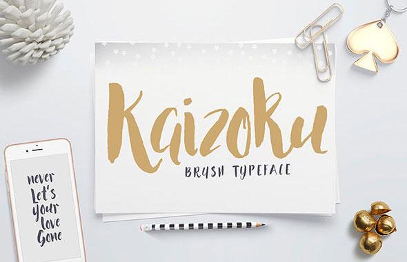 Kaizoku Brush Typeface