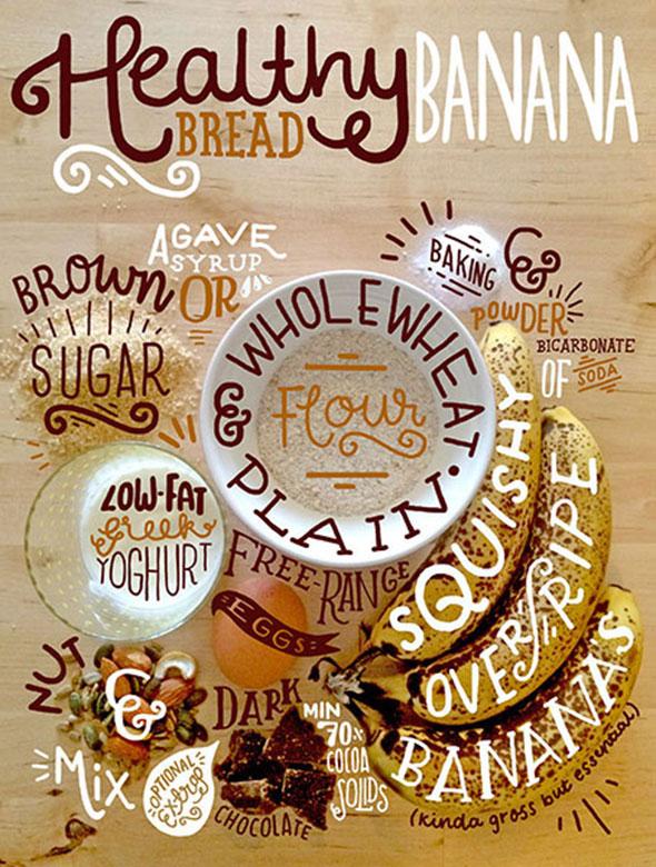 Banana Bread Hand Lettering