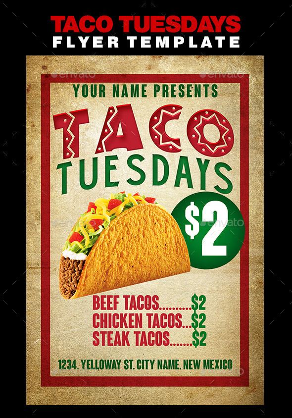 Taco Tuesdays Flyer Template