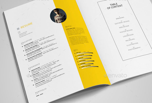 25 beautiful portfolio brochure designs pixel curse. Black Bedroom Furniture Sets. Home Design Ideas