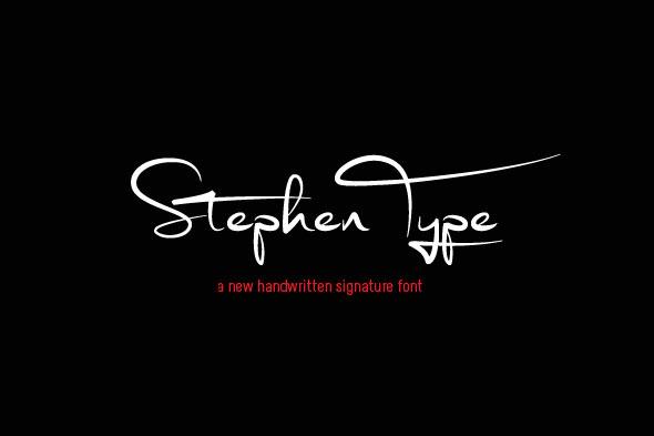 Stephen Type font - signature font