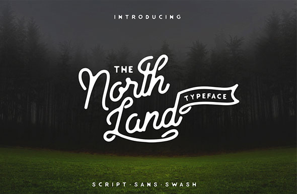 North Land Typeface 3 in 1