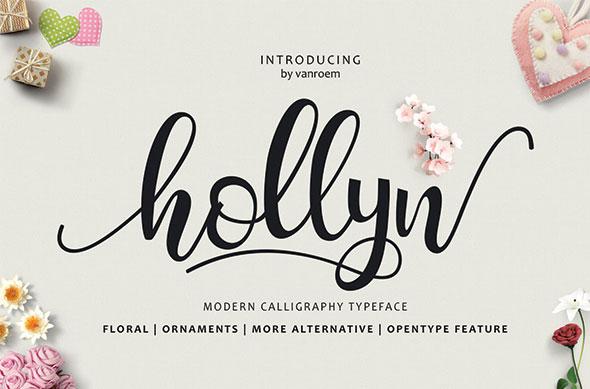 Hollyn Script + Extras Font