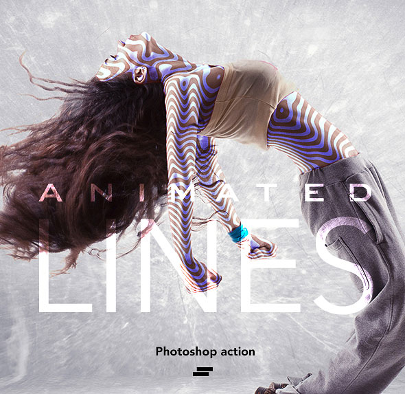 Gif Animated Lines Photoshop Action
