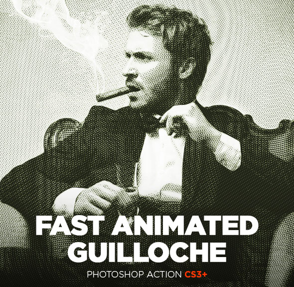 Fast Guilloche Animated Photoshop Action CS3+