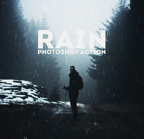 Animated Rain Photoshop Action