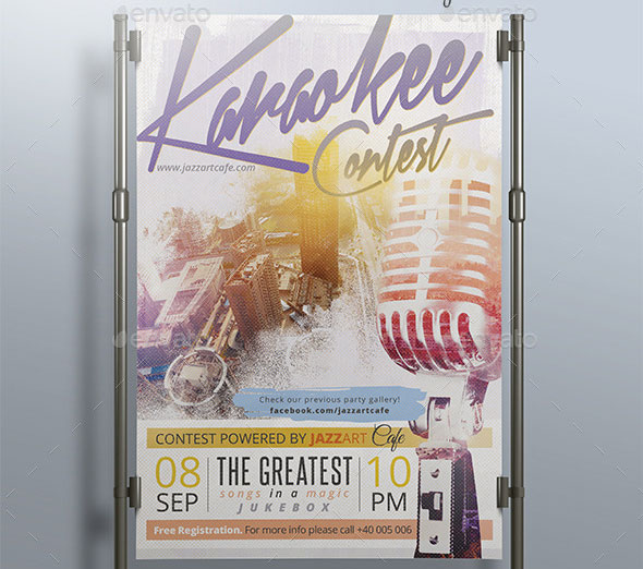 Karaokee Contest Party Flyer II