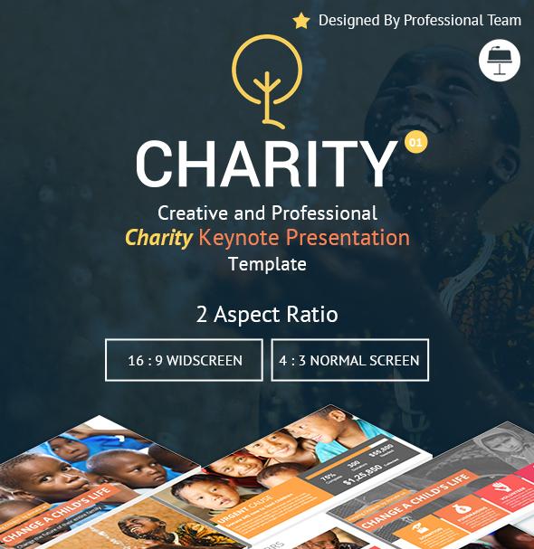 Charity Creative Keynote Presentation Template