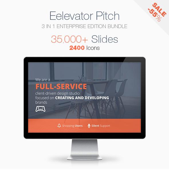 Elevator Pitch Keynote Presentation Bundle