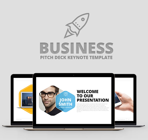 Business Pitch Deck Keynote Template