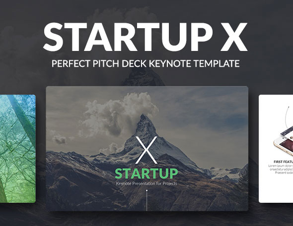 Startup X – Perfect Pitch Deck Keynote Template