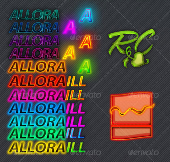 Neon Glossy and Textured Colorful Styles