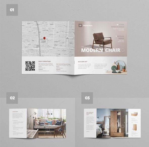 20 amazing interior design brochure templates pixel curse for Interior designs catalogue