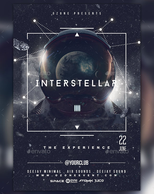 Space Minimal Interstellar Flyer Template