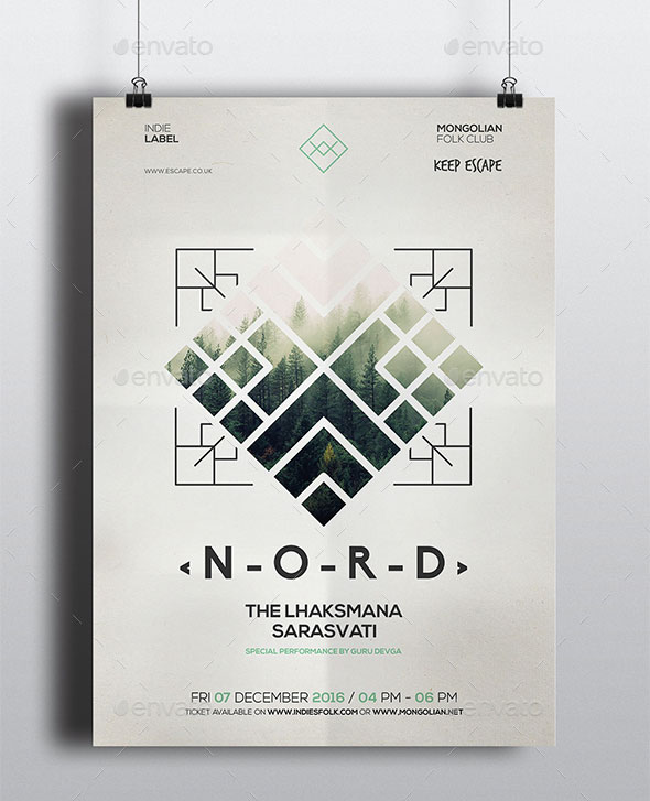 Geometric Alternative Flyer