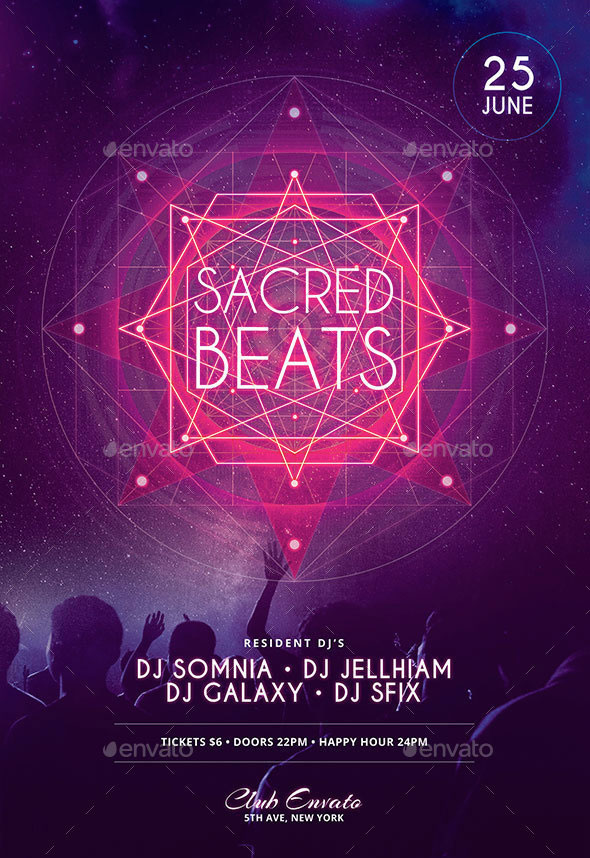 Sacred Beats Flyer