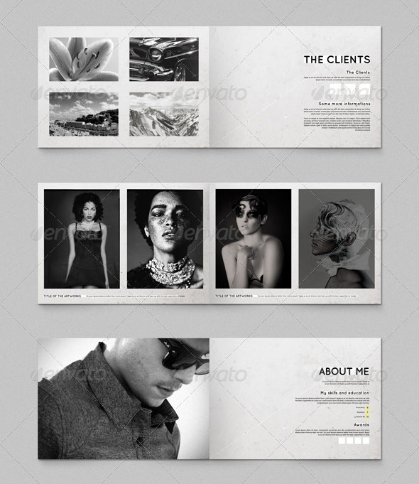 A5 Brochure - Booklet Template Minimal Portfolio