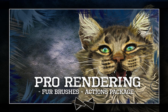 Pro Rendering Fur Brushes + Actions Package