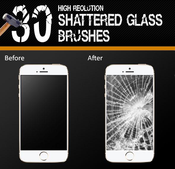 30 Glass Shatter Brushes