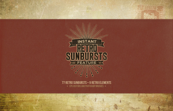 Instant Featured - 77 Retro Sunbursts