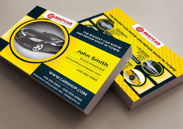Car Dealer & Auto Services Business Card