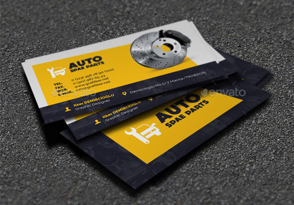 Best Automotive Business Card Design Templates Pixel Curse - Mechanic business cards templates free