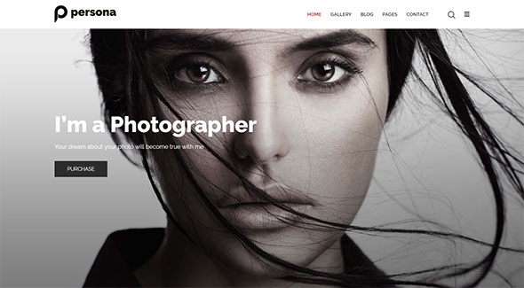 Photography Persona | Photography Portfolio Photography Blog Template