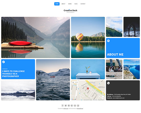 Creative Deck - Portfolio Template for Photographers
