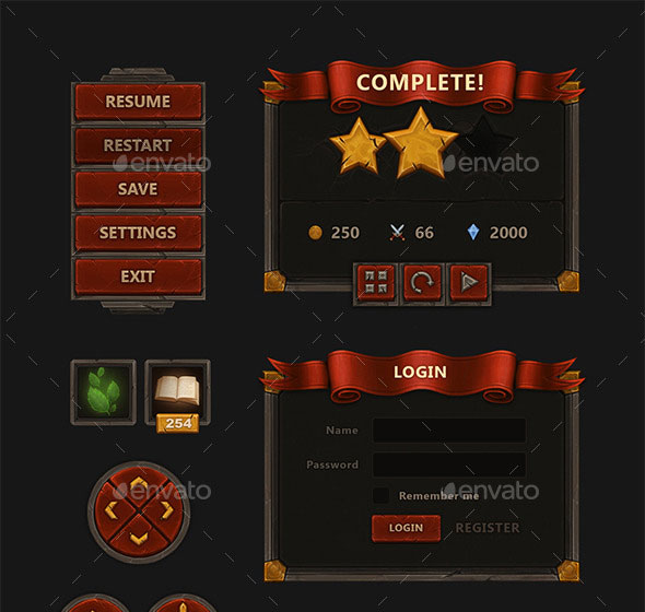 Fantasy Mobile Game Interface