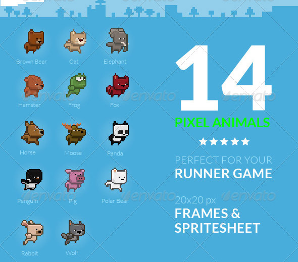 Game Animals Sprite Sheet | Volume 1