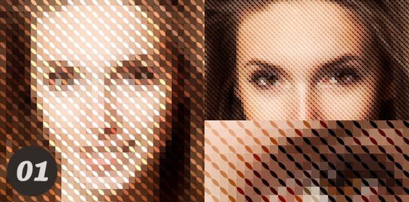 10 Geometric Photo Actions