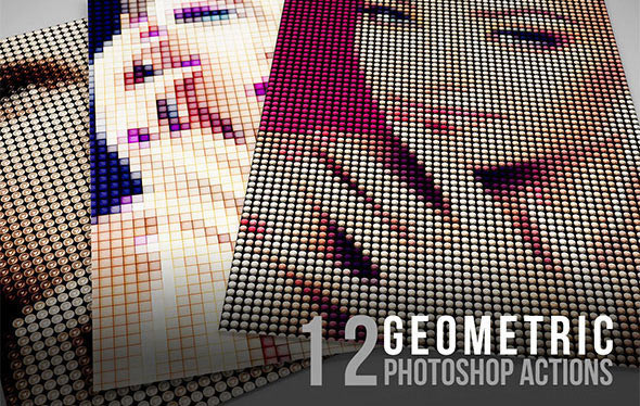 12 Geometric Photoshop Actions 02