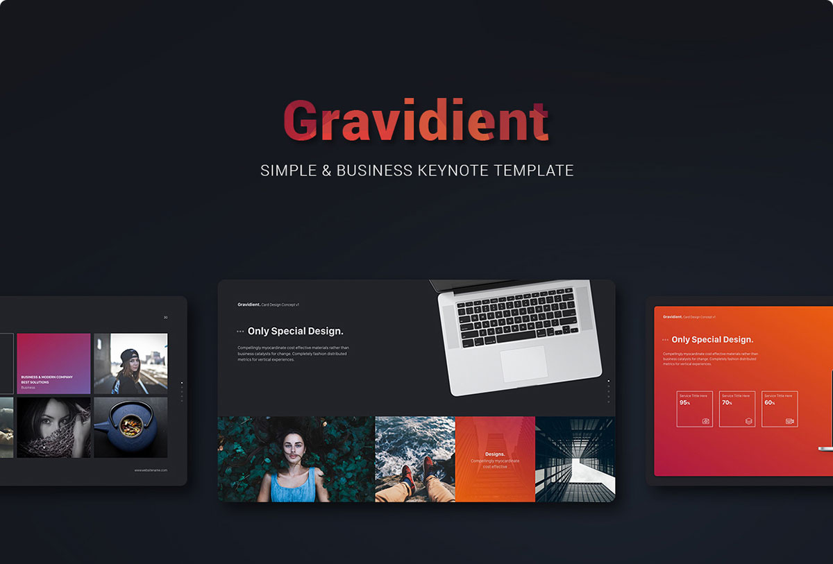 Gravidient Simply Keynote Theme