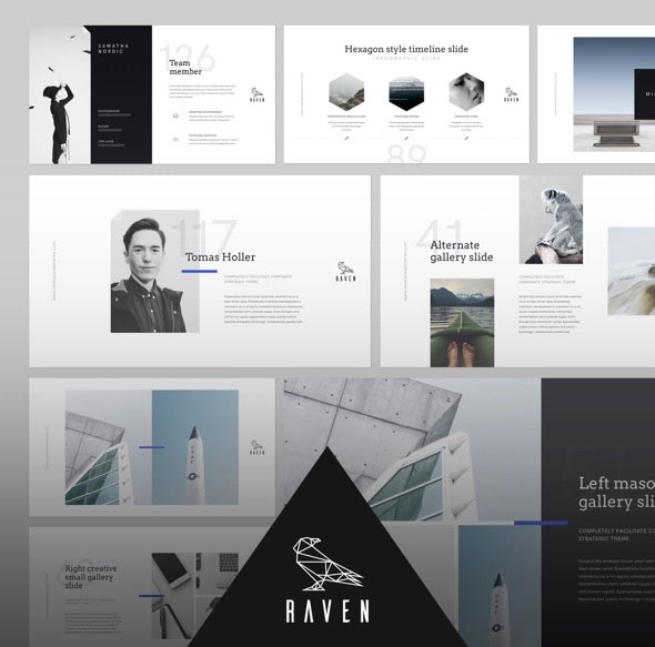 RAVEN Authentic Keynote Presentation Template