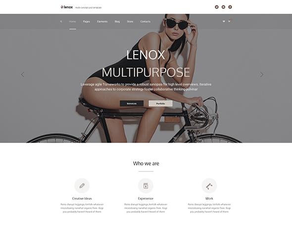 Lenox — Creative MultiConcept PSD Template