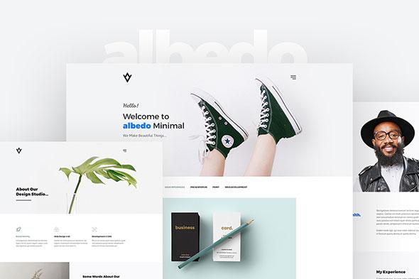 Albedo - Minimal Portfolio PSD Template