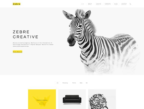 Zebre - Minimal Agency & Portfolio PSD Template