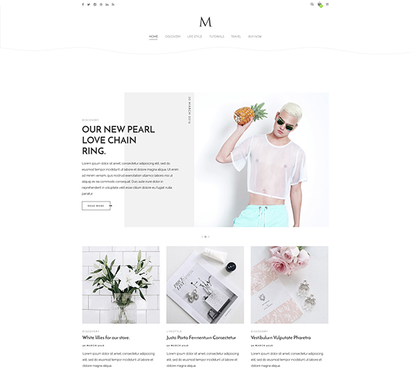 The M - Minimal Creative Blog & Portfolio Template