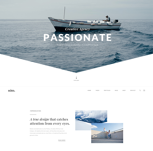 Nito - A Clean & Minimal Multi-purpose PSD Template