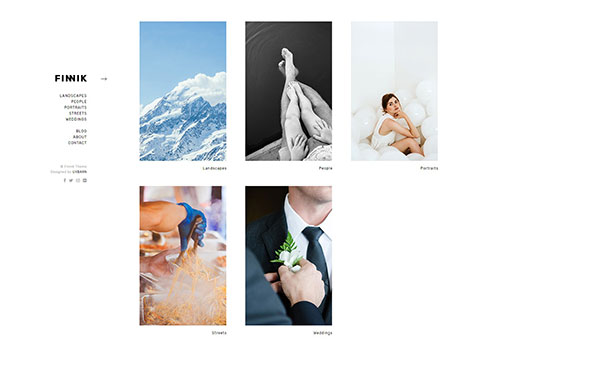 Finnik - Minimal WordPress Theme for Photographers