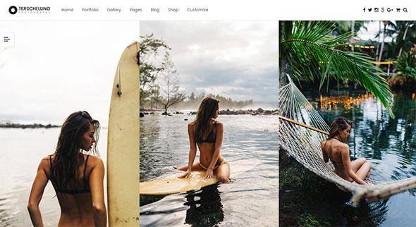 Terschelling - Modern Photography WordPress Theme