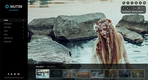 Shutter - Portfolio and Photography Powerful WordPress Theme