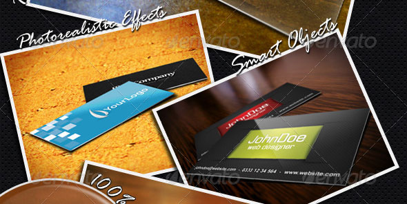 15 Realistic Business Card Mockups