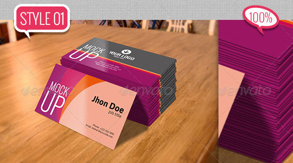 Photorealstic Business Card Mockup