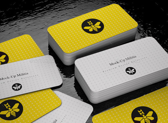 30 fantastic psd business card mockup templates pixel curse rounded corners business card mock up stack v2 reheart Images