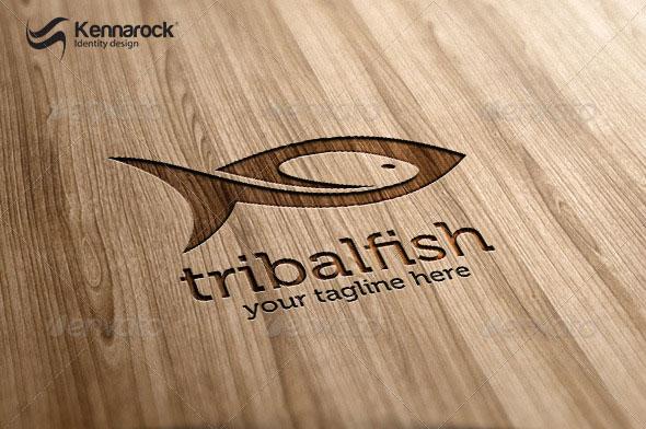 Tribal Fish Logo Template