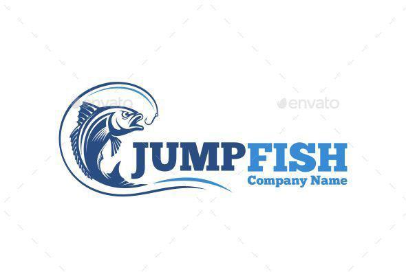 Jump Fish Logo Template